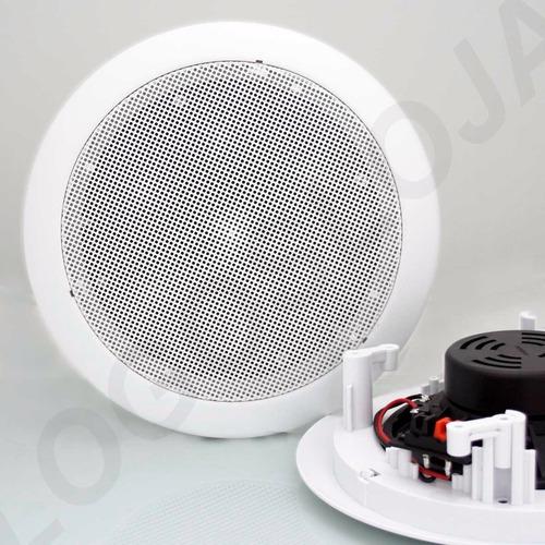 caixa acustica teto gesso arandela 60w 8 ohm 6 pol par