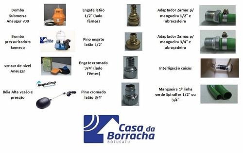 caixa agua 2000 litros+bomba anauger+sensor nivel extra