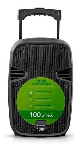 caixa amplificada 100w rms sd/usb/fm multilaser sp258