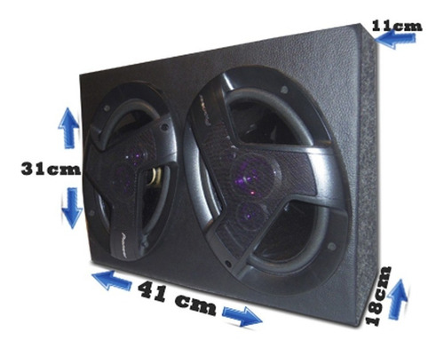 caixa amplificada 6x9 pioneer e módulo taramps