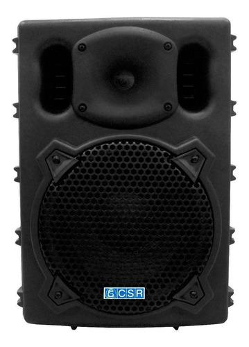 caixa amplificada csr 770a 8 pol 100w c/ 3 entradas + echo