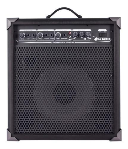 caixa amplificada ll audio multiuso guitarra violão lx100