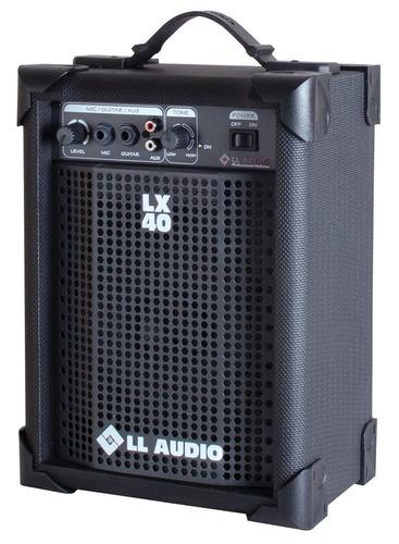 caixa amplificada ll lx 40 cubo guitarra violão mic som tv
