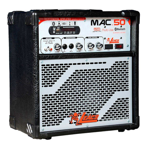 caixa amplificada mac 50 bluetooth - leacs
