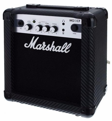 caixa amplificada marshall mg10cf 10w 1x6.5 mg series