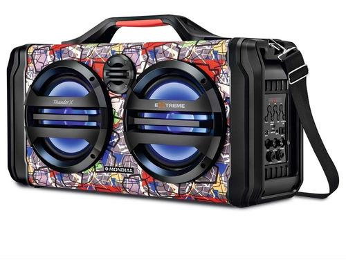 caixa amplificada mondial thunder x extreme mco-10 - bivolt