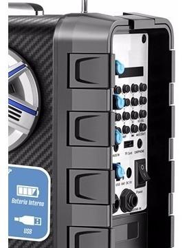 caixa amplificada multi connect mondial mco-03 preto 50w