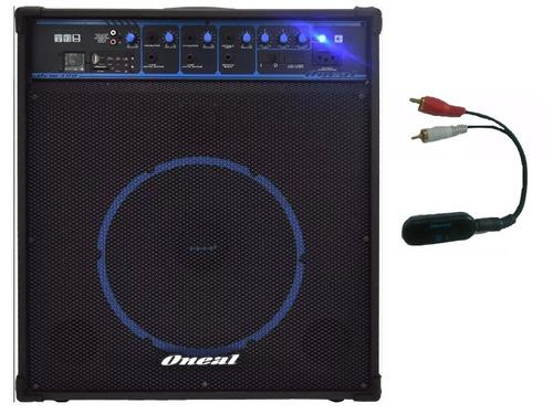 caixa amplificada oneal ocm 490 80wrms bluetooth usb sd fm