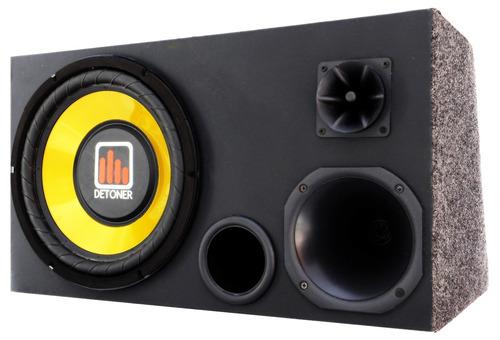 caixa amplificada trio som carro + módulo taramps ou stetsom