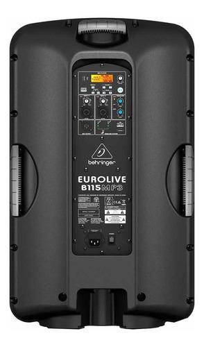caixa ativa 1000w c/ usb eurolive b115mp3usb behringer 220v