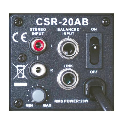 caixa ativa 3 pol 20w c/ suporte (par) - 20 ab csr 220v