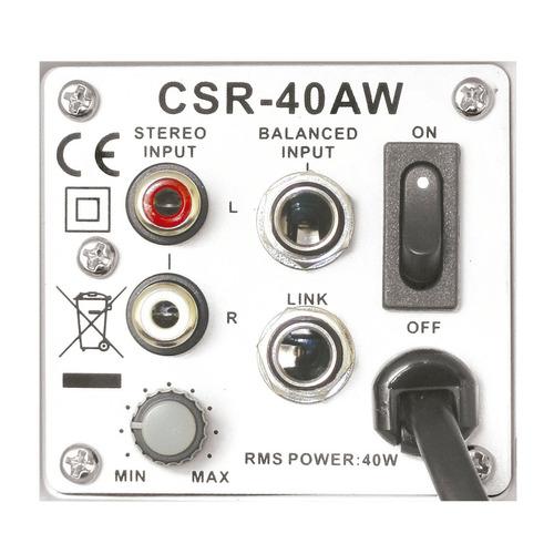 caixa ativa 4 pol 40w c/ suporte (par) - 40 aw csr 220v
