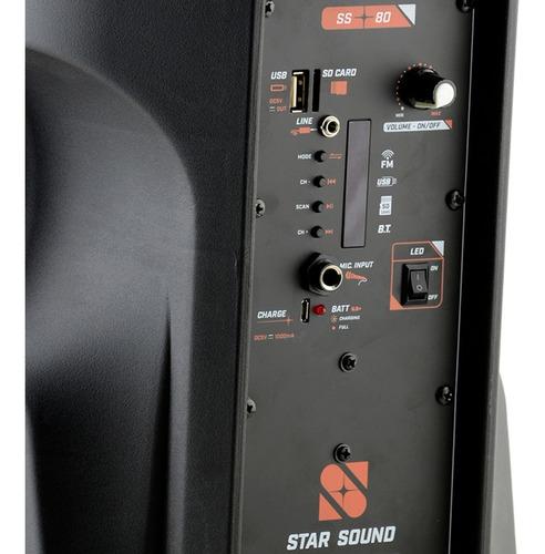 caixa ativa bluetooth star sound ss80 by staner promoção!