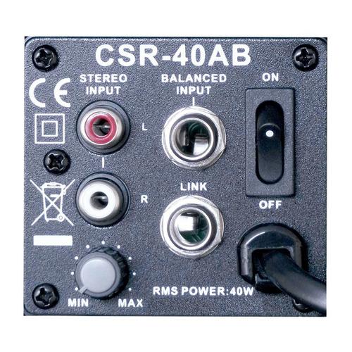 caixa ativa c/ suporte fal 4 pol 40w (par) - 40 ab csr 110v