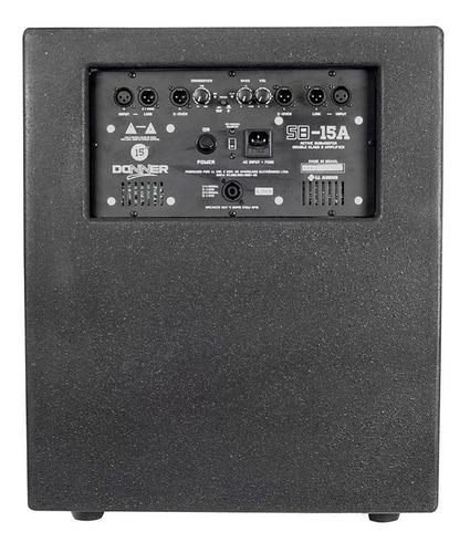 caixa ativa donner sub 15 a 4 ohms 15 polegadas 625w
