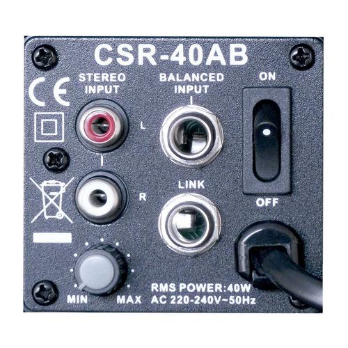 caixa ativa fal 4 pol 40w c/ suporte (par) - 40 ab csr 220v