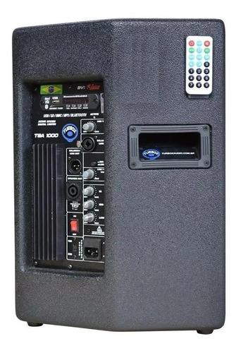 caixa ativa jbl 10 pol 150w usb bluetooth tba1000 turbox rms
