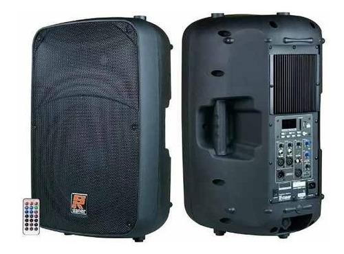 caixa ativa staner 15 pol 300w rms sr315a + mic c/ fio frete gratis