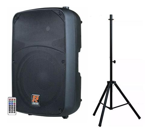 caixa ativa staner sr315a usb/bluetooth + tripe promocao