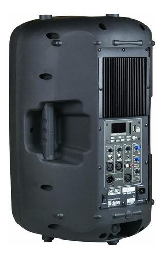 caixa ativa staner sr315a usb/sd card/bluetooth/fm + tripe
