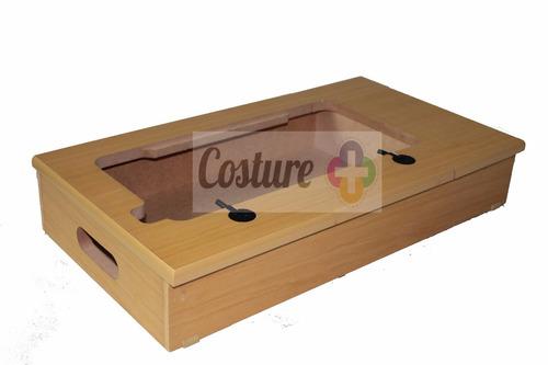 caixa base com 1 gaveta máquina doméstic elgin zig zag super