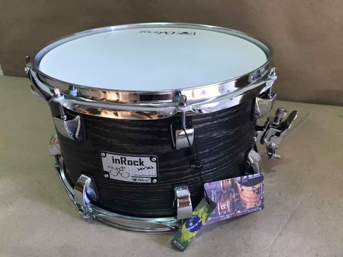 caixa bateria odery 12 x 07 inrock black ash  fosco in rock