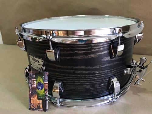 caixa bateria odery 14x7 inrock black ash acabamento fosco