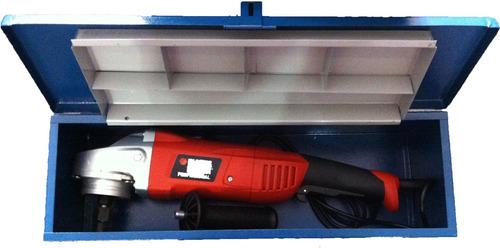 caixa bau de metal ferramentas, politriz e esmerilhadeira
