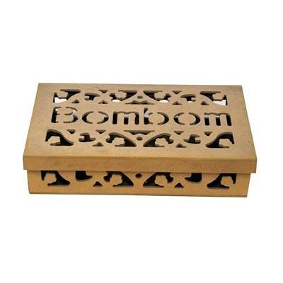 caixa bombom tampa de sapato de madeira mdf