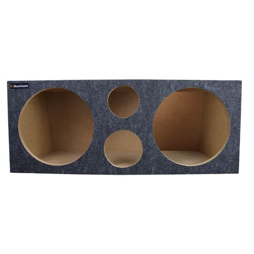 caixa boombastic selada versatile trio 2 alto-falantes 12''