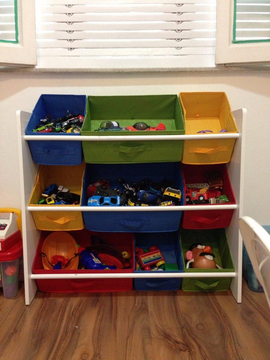 Caixa Brinquedos Guardar Organizar Quarto Crian A Beb Cores R