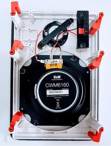 caixa b&w cwm160 in wall - par  nova na caixa c/ nota fiscal