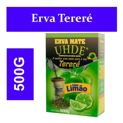 caixa c/ 12 erva mate uhde limão 500 gramas