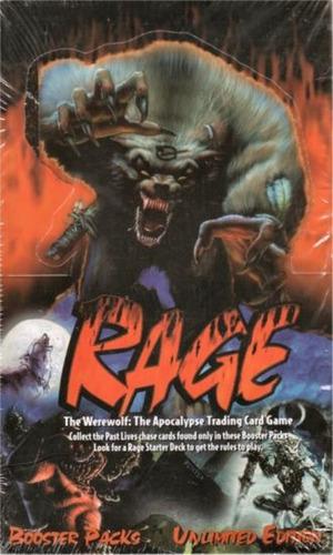 caixa c/ 24 booster rage werewolf card game rpg dc marvel
