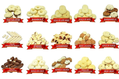 caixa c/ 24 potes de biscoito amanteigados delícia de minas