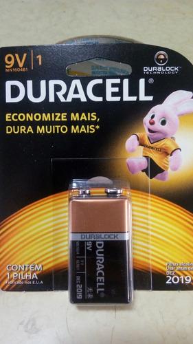 caixa c/12 baterias duracell 9v 100% original* mega promoção
