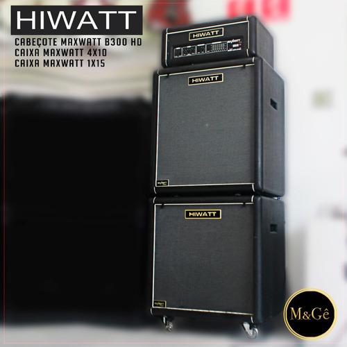 caixa + cabeçote hiwatt maxwatt