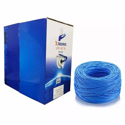 caixa cabo de rede xtronix cat5 cftv 305 metros 4 pares