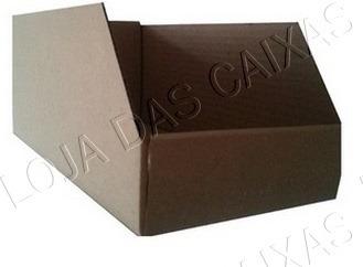 caixa caçamba para prateleiras - medidas l 14,5 x c  29 x a
