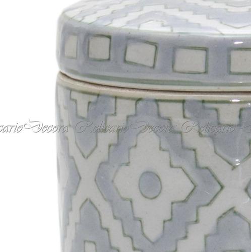 caixa caixinha de porcelana redonda pintado a mão
