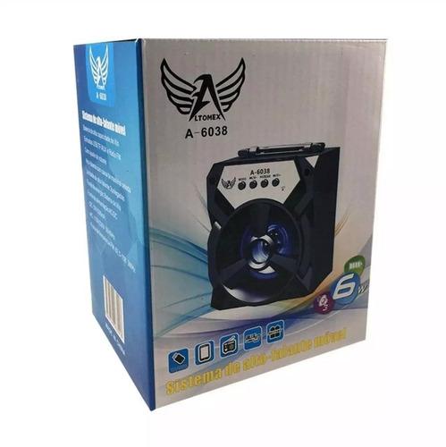 caixa caixinha de som portátil 6028 mp3 pen drive cartão aux