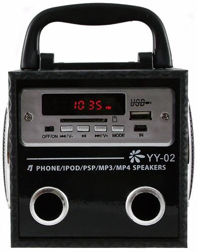 caixa caixinha de som portátil yy02 mp3 pen drive cartão aux