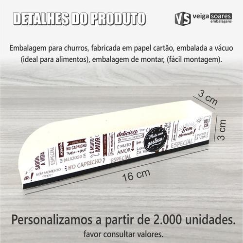 caixa, caixinha, embalagem para churros (1.000 unidades)