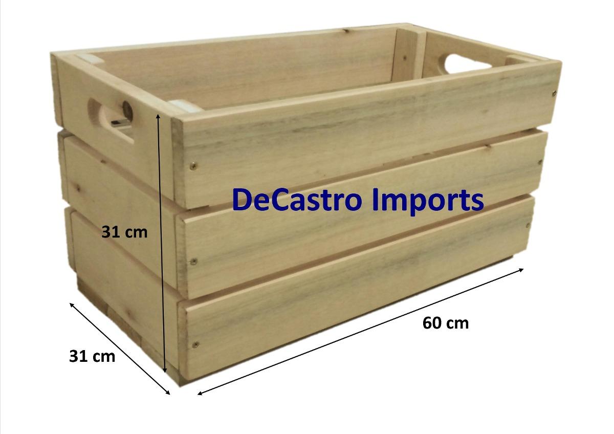 Caixa Caixote De Feira Novo  Madeira Ecológica  Decoração  R$ 59,97 em Mer -> Banheiro Decorado Com Caixote De Feira