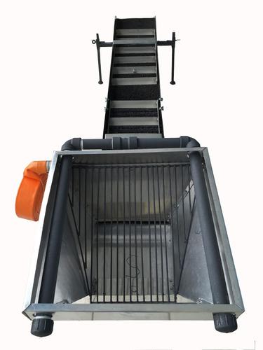 caixa calha eclusa garimpo 25x185cm desm c/ silo e pulveriza