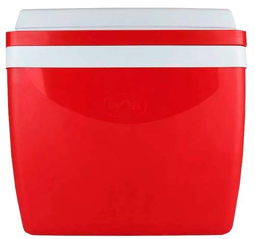 caixa camping com alça 26 litros vermelha térmica  mor