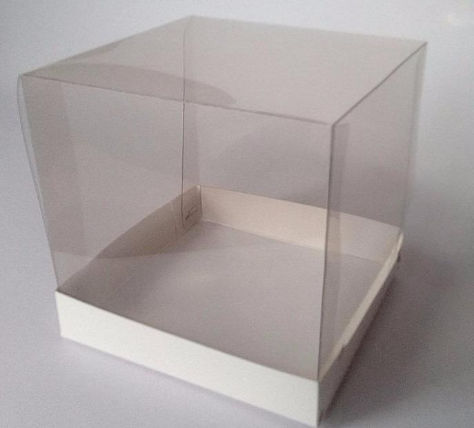 Caixa caneca acetato transparente 10x10x10 branco c 25 - Piastrelle 10 x 10 ...