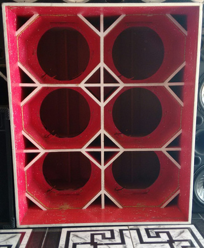 caixa canhão para 6 alto-falantes de 15