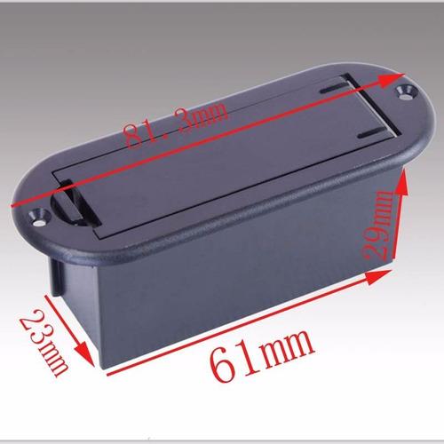 caixa case box bateria 9v para contra baixo (1 peça)