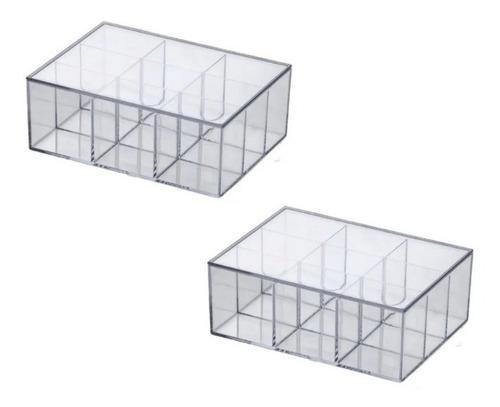 caixa c/divisória transparente closet,cozinha,banhheiro 1079